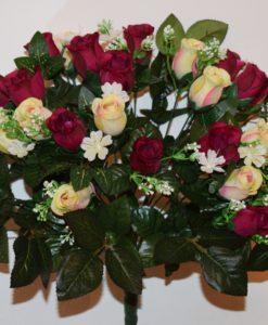 Искусственные цветы-Роза бутон люкс с пластмасками не прес R-737