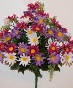Искусственный цветок -Ромашка цветная микс R-536