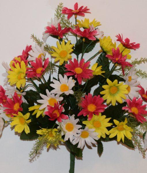 Искусственный цветок -Ромашка цветная микс R-903