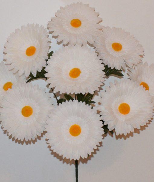 Искусственные цветы-Ромашка белая крупная 9-ка R-736