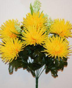Искусственные цветы-Хризантема с ландышем не прес R-744