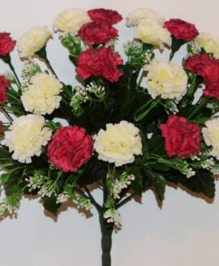 Искусственные цветы-Гвоздика с кашкой непрес R-647
