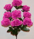 Искусственные цветы-Роза камелия коричневая нога 9-ка R-777