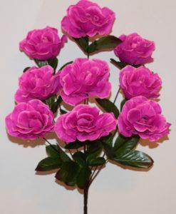 Искусственные цветы-Роза камелия коричневая нога 9-ка R-889
