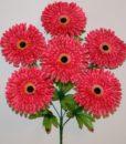 Искусственные цветы- Ромашка-гербера атласная 6-ка R-768