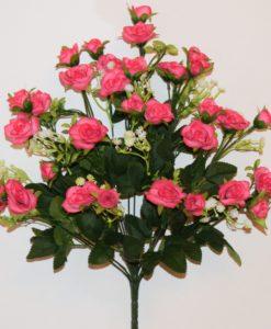 Искусственные цветы-Роза открытая люкс с пластмасками не прес R-773