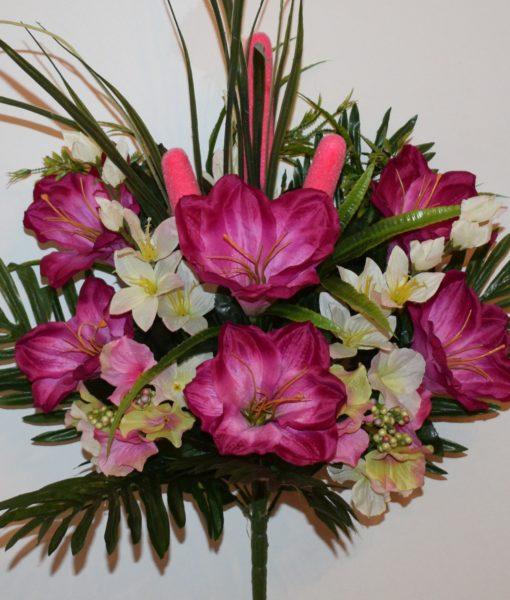 Искусственные цветы-Камыш+лилия с гортензией не прес R-769