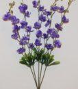Искусственные цветы-Орхидея пластмасовая 5 веток не прес R-774