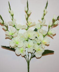 Искусственные цветы-Гдадиолус букет 5 веток не прес R-775
