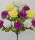 Искусственные цветы -Шар гвоздика цветной 13-ка R-764