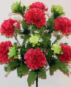 Искусственные цветы -Калинка с пластмасовым крокусом R-760