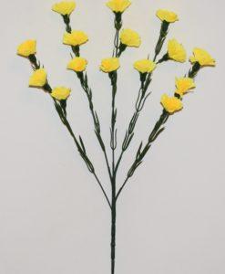 Искусственные цветы- Ветка Гвоздика 5-ка B-82