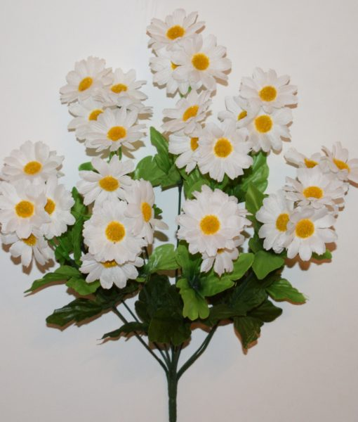 Искусственные цветы -Ромашка семейка белая R-765