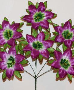 Искусственные цветы -Мальва распущенная 6-ка не прес R-758