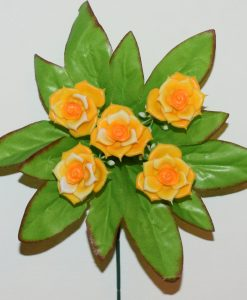 Искусственные цветы-заливка Роза пластмаса 5-ка Z-84