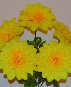 Искусственные цветы-Георгина большая 5-ка R-762