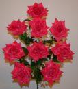 Искусственные цветы-Роза гигант открытая 9-ка не прес R-902