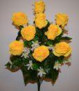 Искусственные цветы-Роза гигант бутон 9-ка не прес R-901
