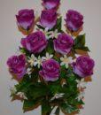 Искусственные цветы-Роза гигант бутон 9-ка не прес R-783