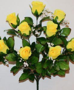 Искусственные цветы-Роза бутон кашка с зеленью 11-ка не прес R-809