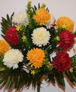 Искусственные цветы-Хризантема цветная с пластмасками не прес R-784