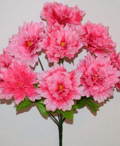 Искусственные цветы-Дубок гвоздика 9-ка R-802
