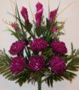 Искусственные цветы-Хризантема шар с калами не прес R-787