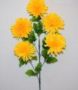 Искусственные цветы- Ветка Шар Хризантема 5-ка большой B-86