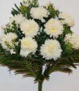 Искусственные цветы-Шар хризантема с фиалками не прес R-810