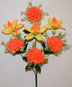 Искусственные цветы-Ирис с калинкой 7-ка R-797