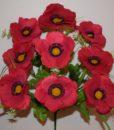 Искусственные цветы —Мак-велюр цветной 9-ка R-780