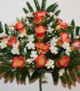 Искусственные цветы -Бутон люкс с фиалками не прес R-823
