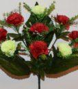 Искусственные цветы-Гвоздика комбинированая 10-ка R-771