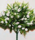 Искусственные цветы-Роза бутончик с пластмасками белая не прес R-816