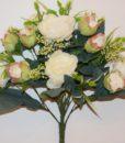 Искусственные цветы-Пион-бутон люкс с пластмасками не прес R-798