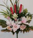Искусственные цветы-Магнолия+лилия с камышом не прес R-803