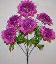 Искусственные цветы-Георгина-гвоздика большая 6-ка не прес R-912