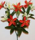 Искусственные цветы -Лилийка атлас с пластмасками R-826