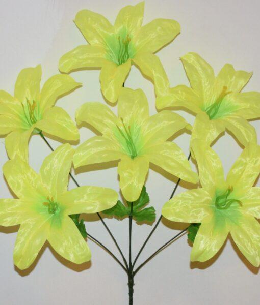 Искусственные цветы —Лилия атлас цветная 6-ка не прес R-859