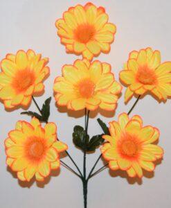 Искусственные цветы-Ромашка нова 6-ка R-913