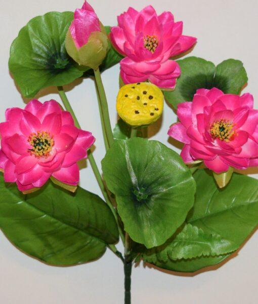 Искусственные цветы-Кувшынка водяная не пресованая R-822