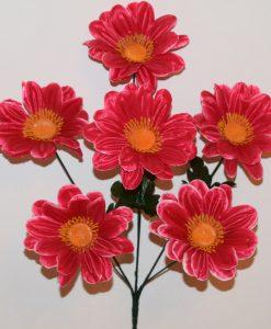 Искусственные цветы-Ромашка цветная с пластмасками не прес R-851