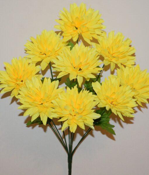 Искусственные цветы-Ёжик букет 9-ка R-850