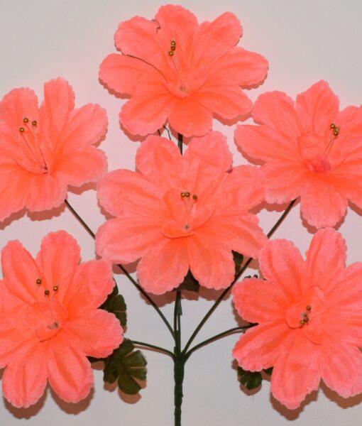 Искусственные цветы —Мальва павлин 6-ка R-857