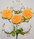 Искусственные цветы-Гвоздика цветная с розеткой 6-ка не прес R-846