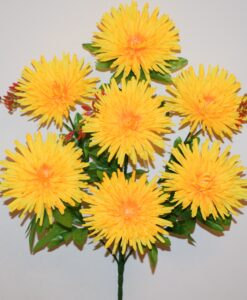 Искусственные цветы —Ёжик хризантема цветной 7-ка R-658