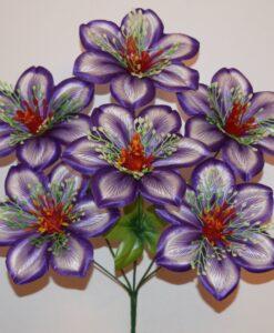 Искусственные цветы-Нарцис расписной крупный 6-ка R-830