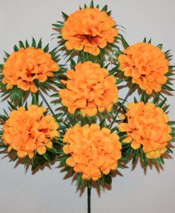 Искусственные цветы-Калинка с пальмовым листом 7-ка R-563