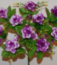 Искусственные цветы-Роза+колокольчики+камелийка пластмасовая не прес R-852
