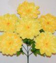 Искусственные цветы-Георгина с присыпкой атлас 6-ка R-847